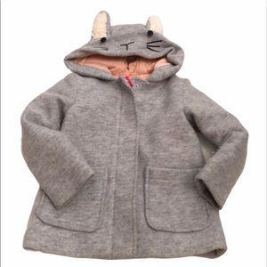 Cat & jack 4T  gray bunny coat